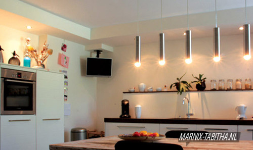 keukenwand zonder tegels