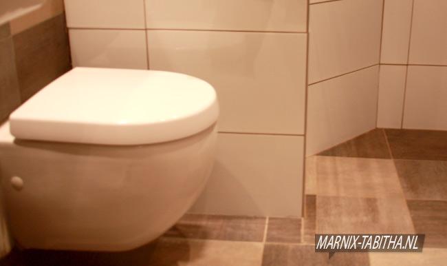 Verbouwde badkamer WC